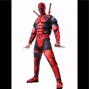 Marvel superhero Deadpool men's costume adult